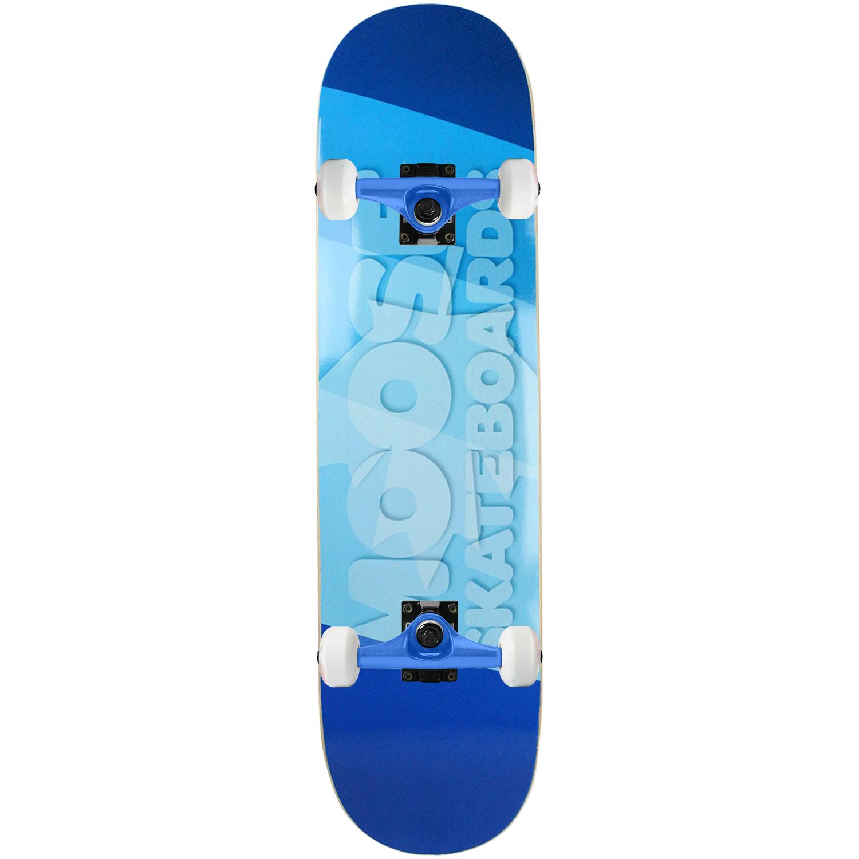Moose Skateboard Complete Blue Flag 7.75in