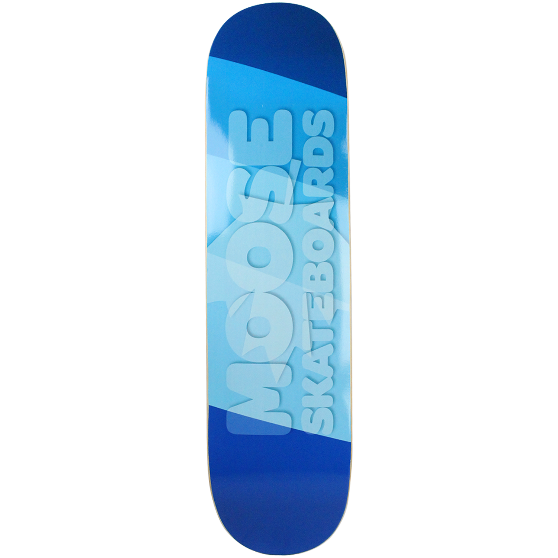 Moose Skateboard Deck Blue Flag 7.75in