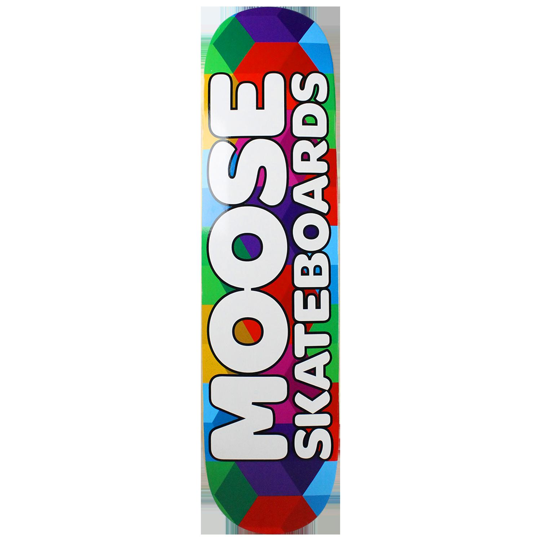 Moose Skateboard Deck Cubes 7.75in