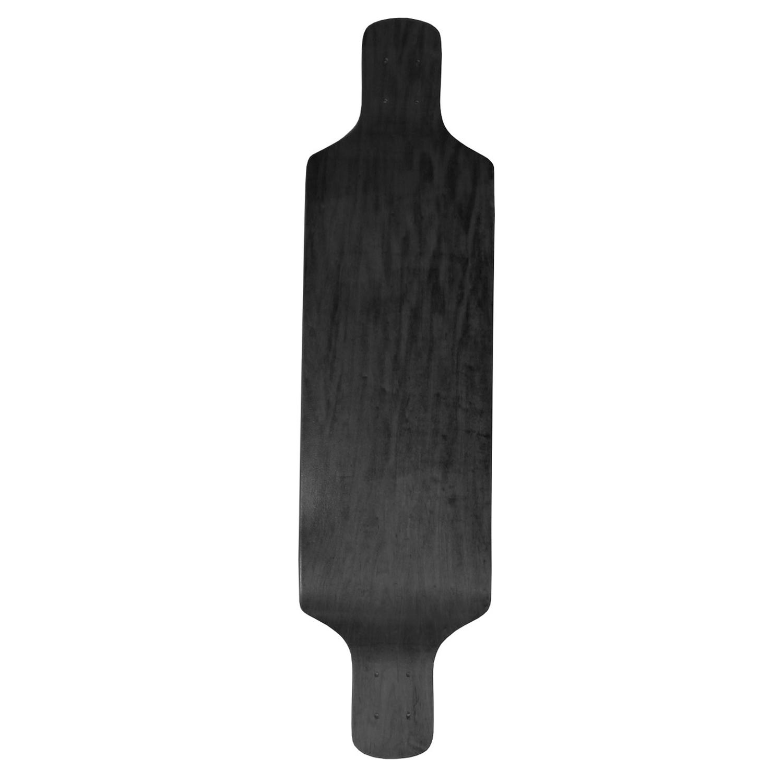 Moose Longboard Drop Down Deck Stain Black 9.4in x 38in