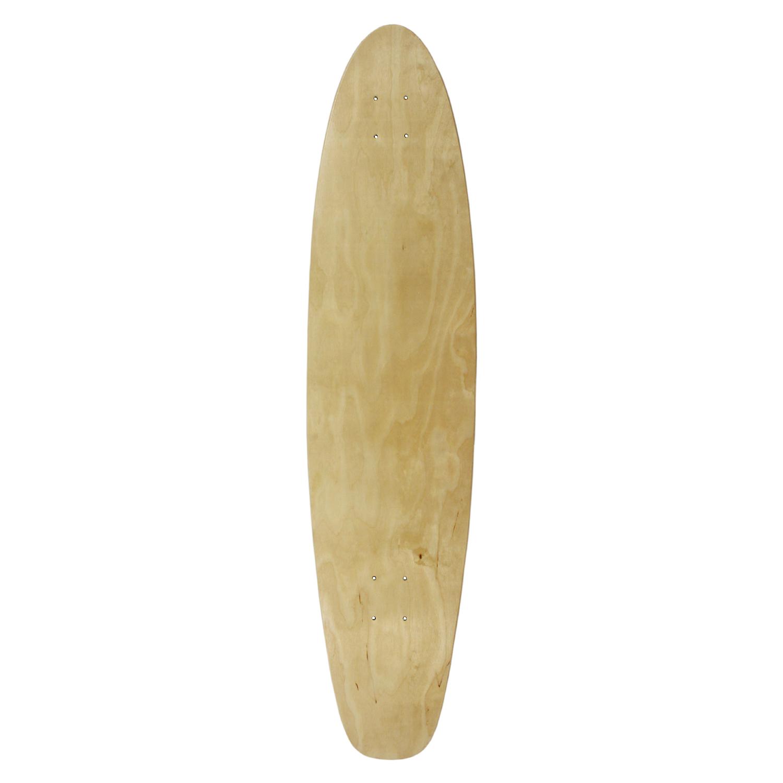 Moose Longboard Kicktail Deck Natural 9in x 40in