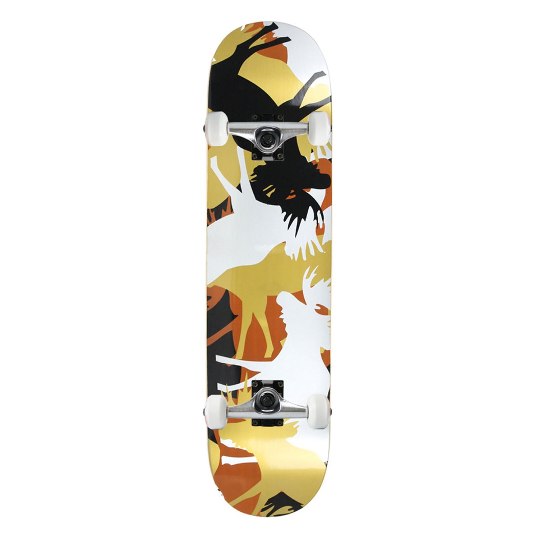 Moose Skateboard Complete Allover Metallic 7.75in, 8in, 8.25in