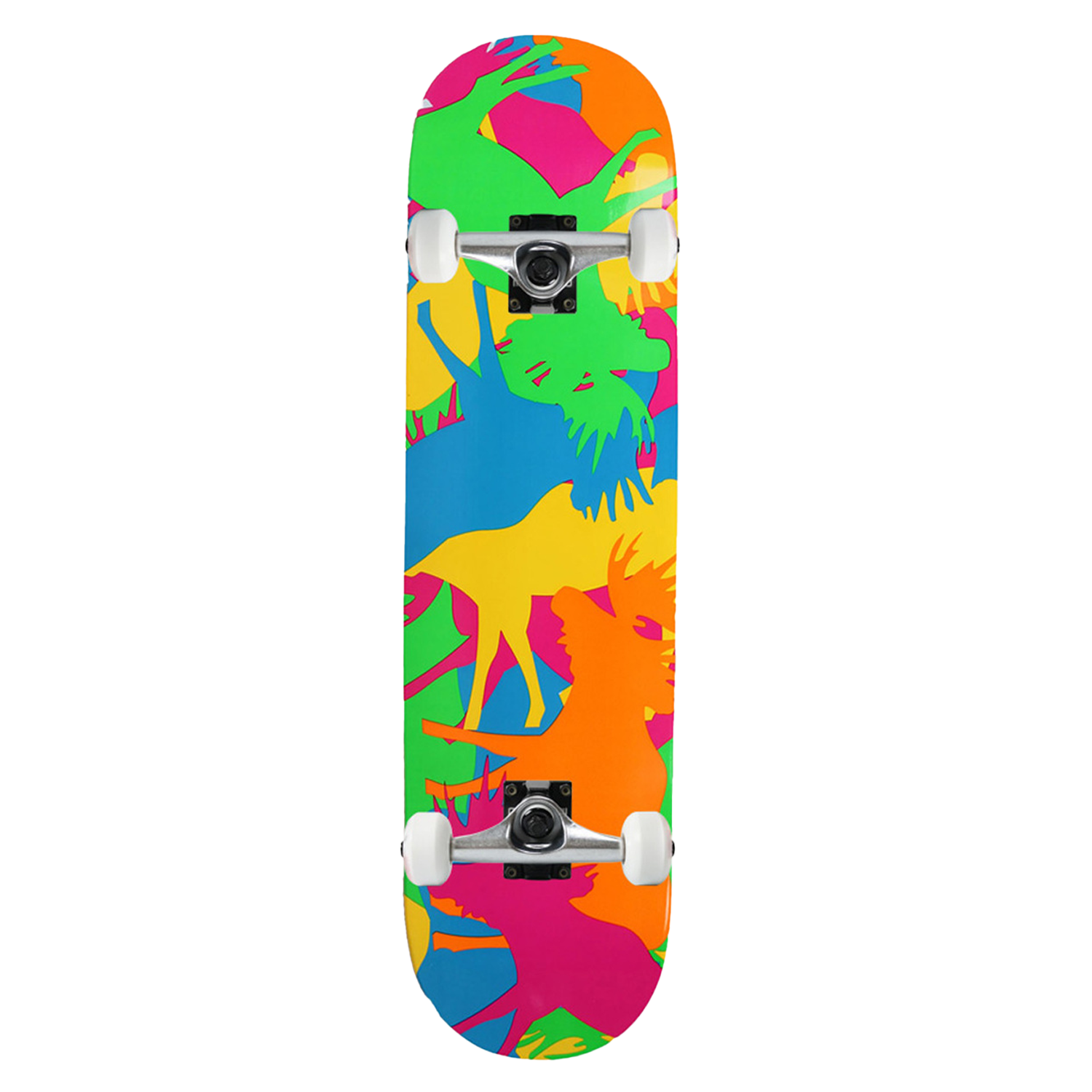 Moose Skateboard Complete Allover Neon, 7.75, 8in, 8.25in