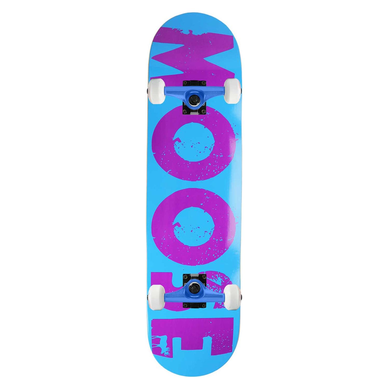 Moose Skateboard Complete Bold Logo Blue 7.875in, 8.25in