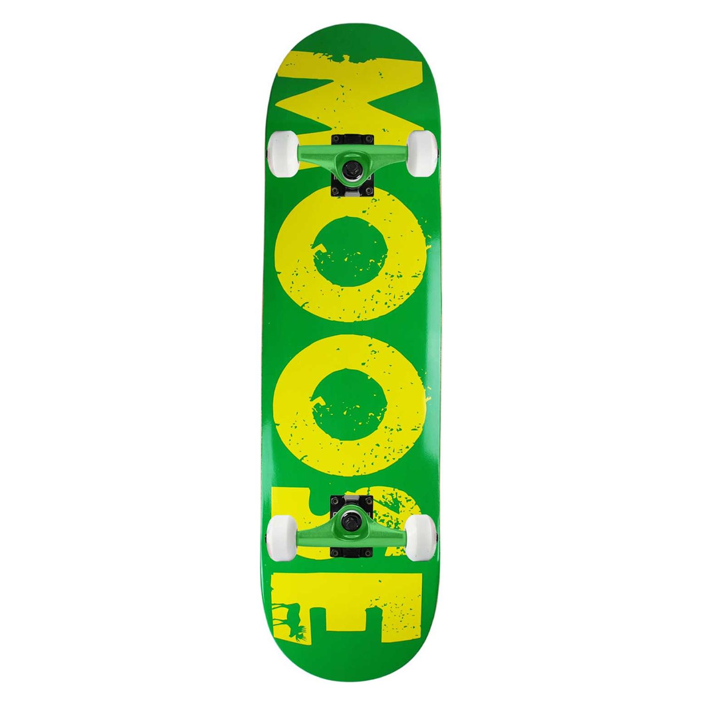 Moose Skateboard Complete Bold Logo Green 8.25in