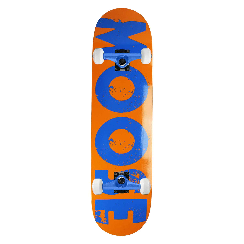 Moose Skateboard Complete Bold Logo Orange 8.125in