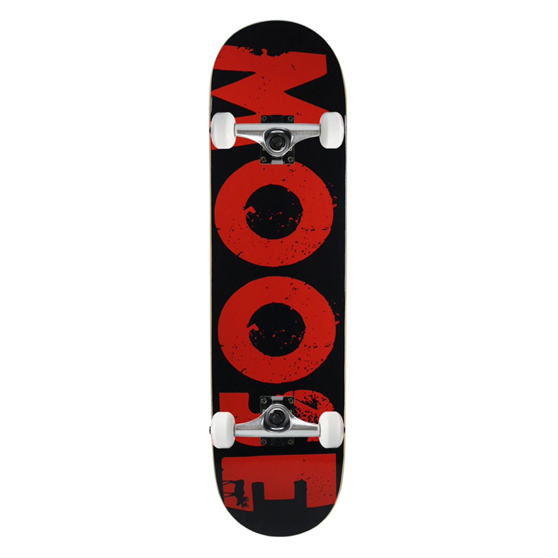 Moose Skateboard Complete Bold Logo Red 8in