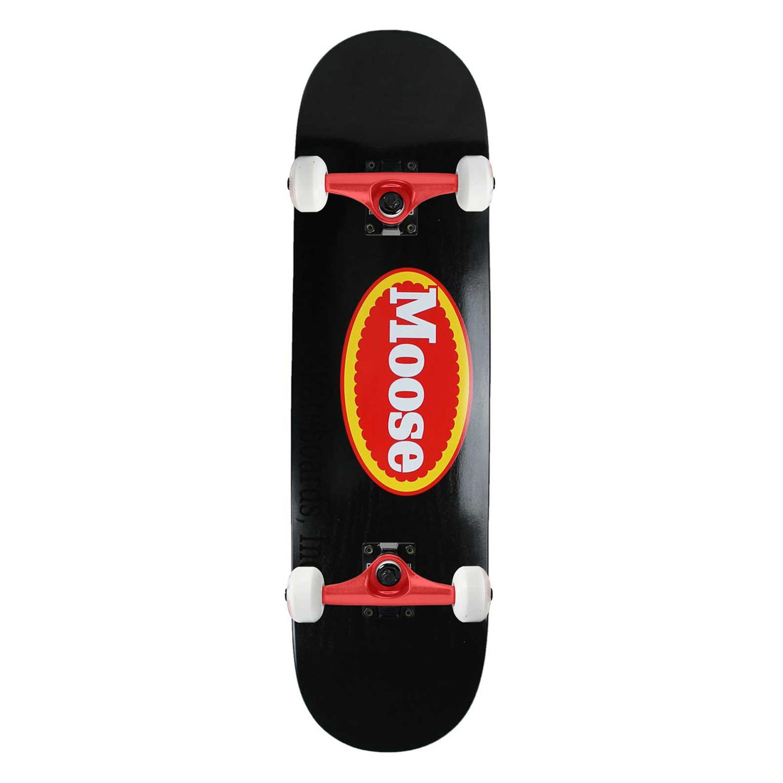 Moose Skateboard Complete Fresh Logo Black 8.25in