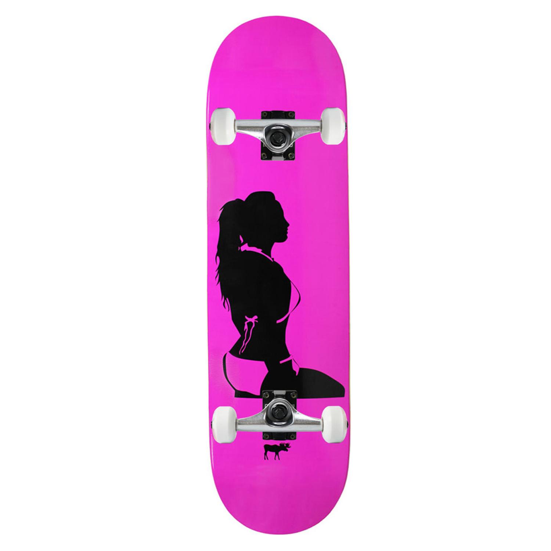 Moose Skateboard Complete Girl Silhouette Pink 8.25in
