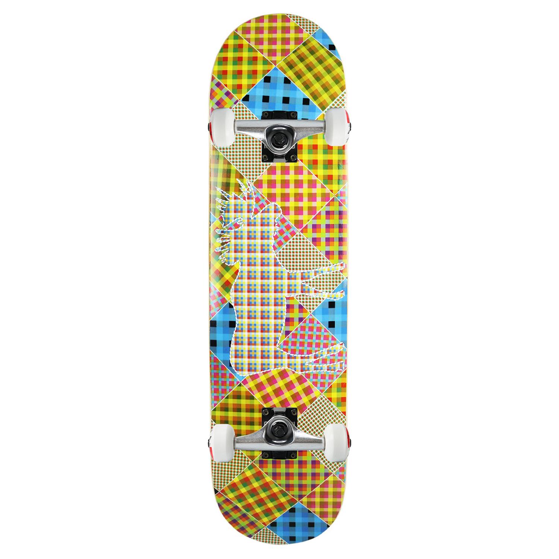 Moose Skateboard Complete Patchwork 8in