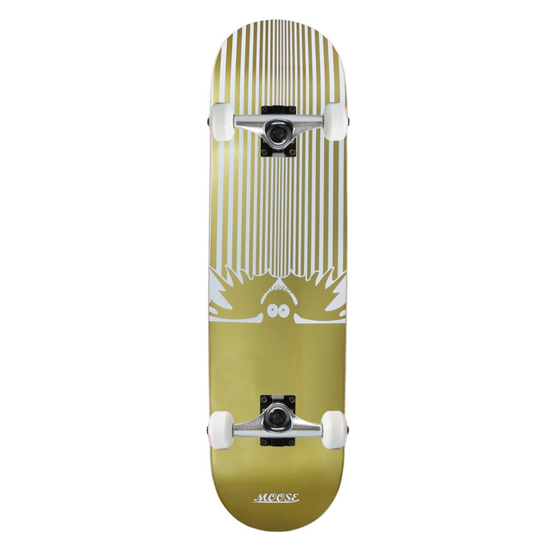 Moose Skateboard Complete Pinstripe Gold 8in