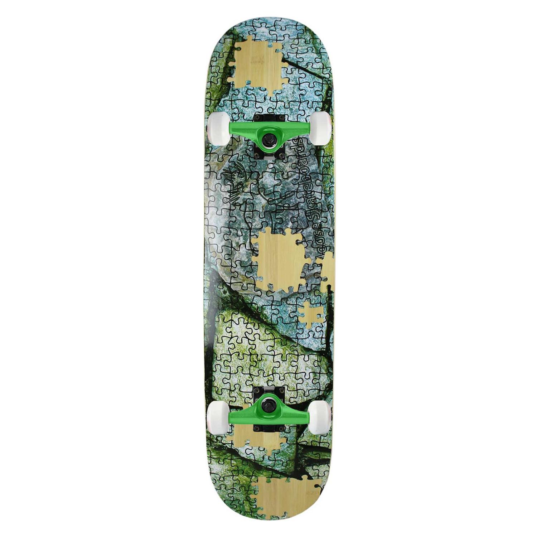 Moose Skateboard Complete Scribble Black Bamboo 8.25in
