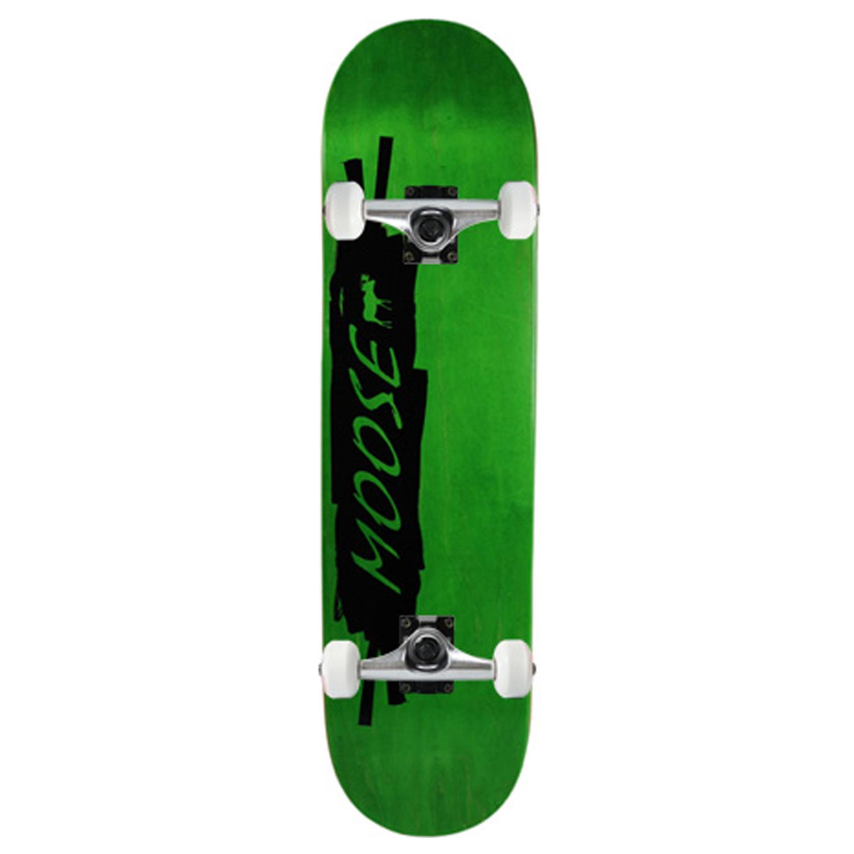 Moose Skateboard Complete Scribble Black Green 8in