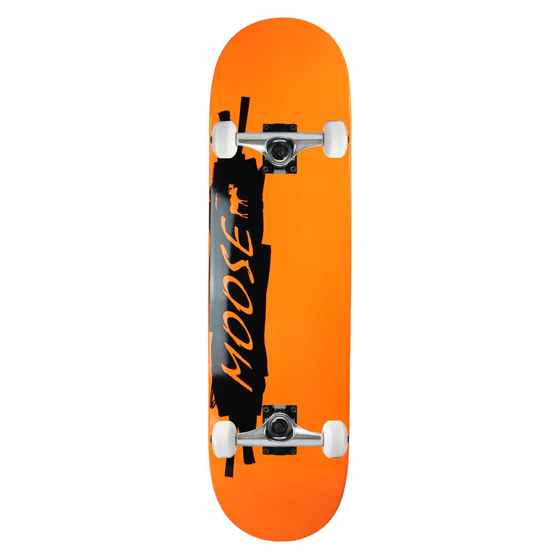 Moose Skateboard Complete Scribble Black Orange 8.25in