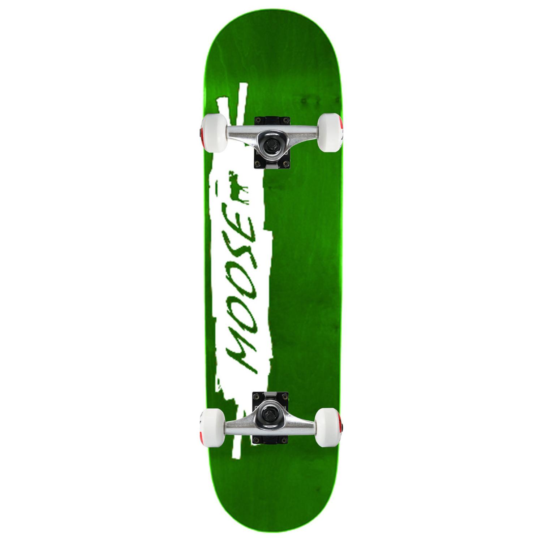 Moose Skateboard Complete Scribble White Green 8in