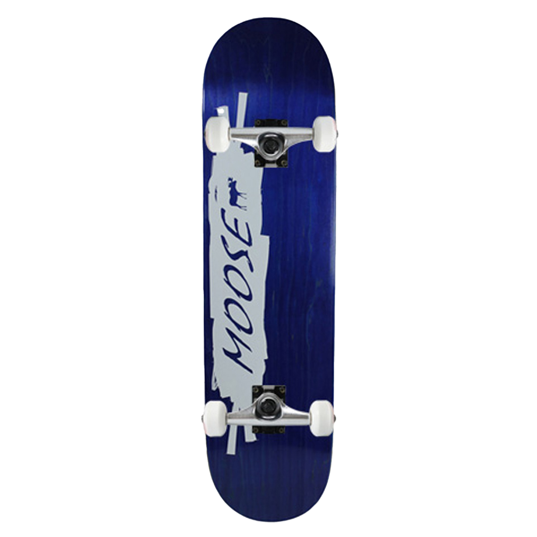 Moose Skateboard Complete Scribble White Blue 8in
