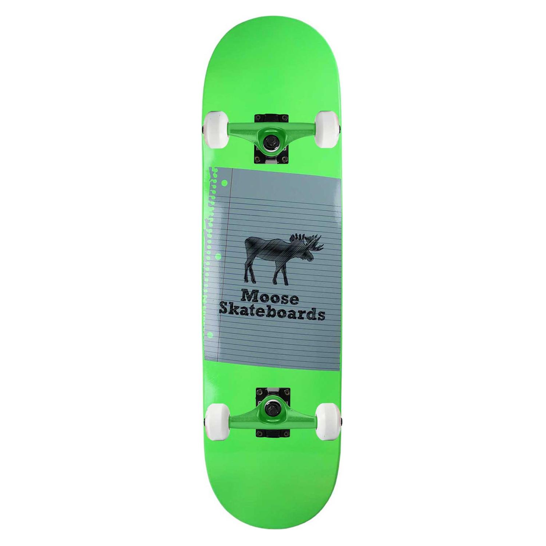 Moose Skateboard Complete Sketch neon Green 8.25in