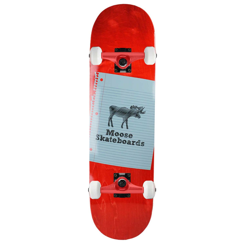 Moose Skateboard Complete Sketch Red 8.5in