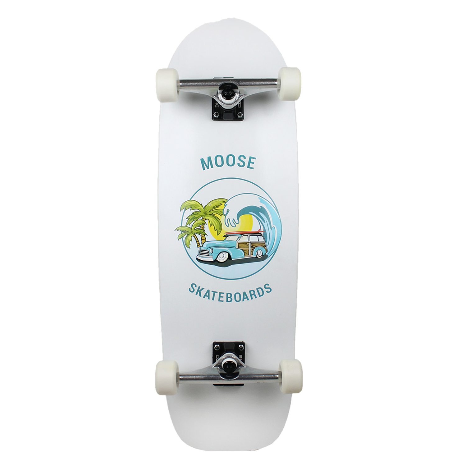 Moose Skateboard Old School Complete Cruise Green Yellow 10in x 33in