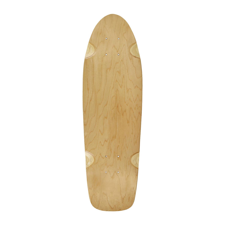 Moose Skateboard Cruiser Deck Natural 8in x 26.5in