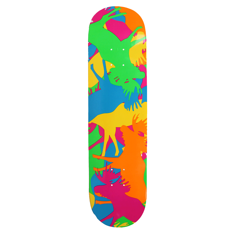 Moose Skateboard Deck Allover Neon 7.75in, 8in, 8.25in