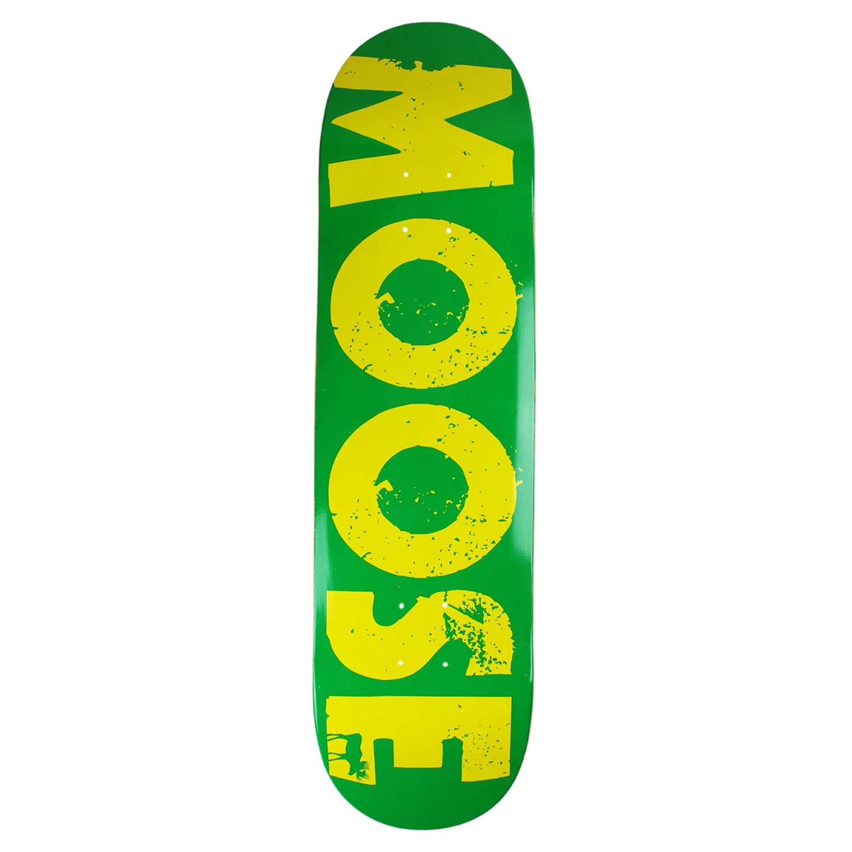 Moose Skateboard Deck Bold Logo Green 8.25in