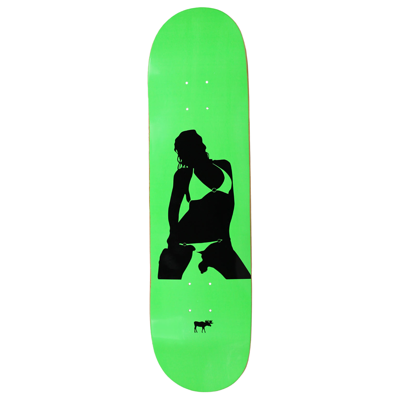 Moose Skateboard Deck Girl Silhouette Green 8.25in