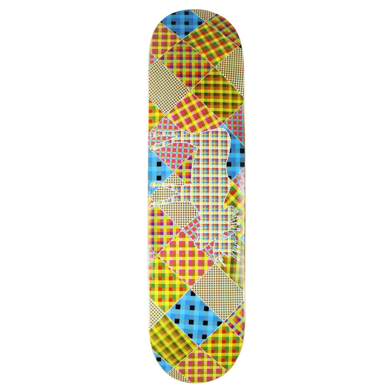 Moose Skateboard Deck Patchwork 8in