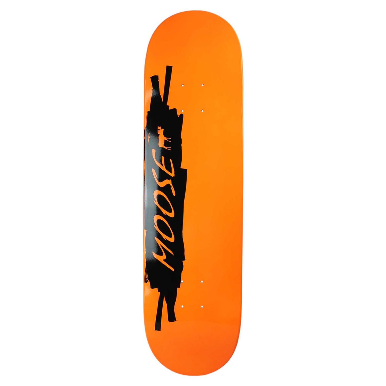 Moose Skateboard Deck Black Orange 8.25in