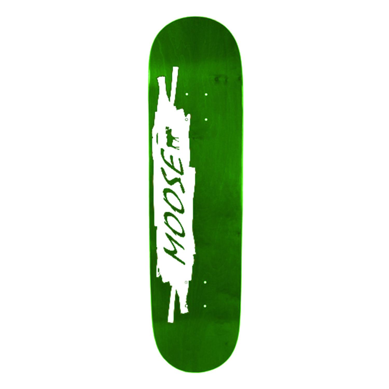 Moose Skateboard Deck Scribble White Green 8in