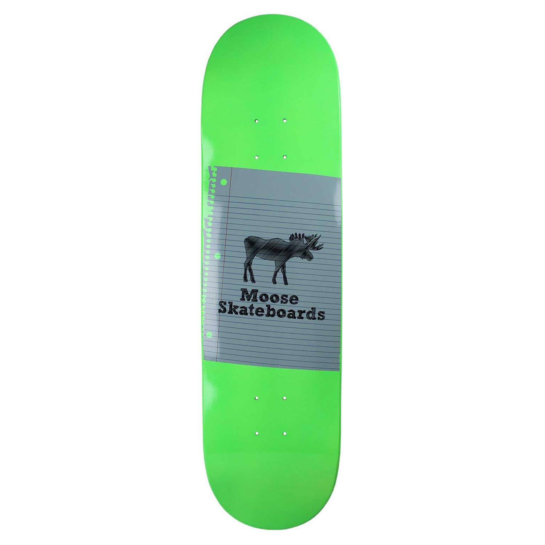Moose Skateboard Deck Sketch Neon Green 8.25in