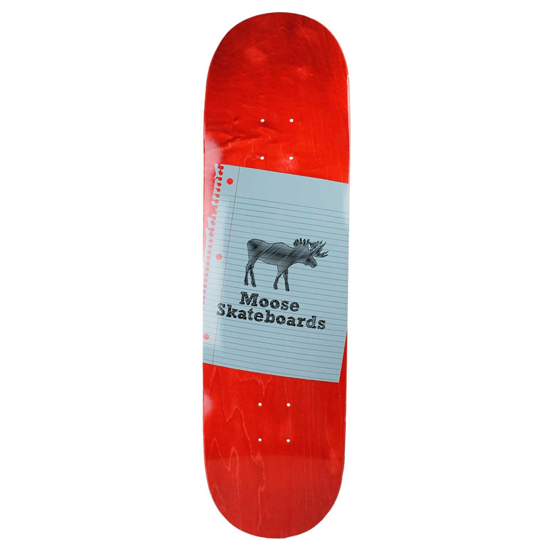 Moose Skateboard Deck Sketch Red 8.5in