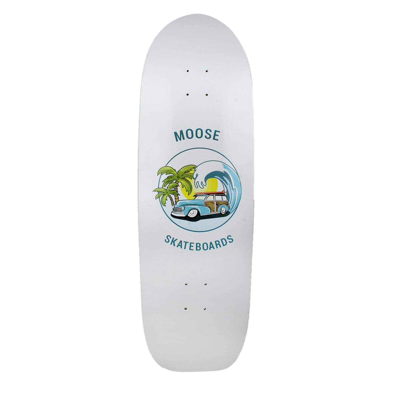 Moose Skateboard Old School Deck Sunset Cruise Green Yellow 10in x 33in