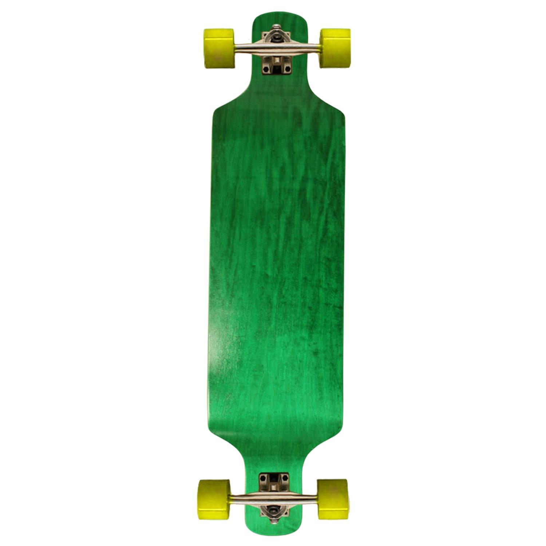 Moose Longboard Complete Green Drop Down Concave Maple Symmetrical Shape 9.4in x38in